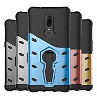 お買い得  携帯電話ケース-ケース 用途 OnePlus OnePlus 6 / OnePlus 5T 耐衝撃 / スタンド付き / つや消し バックカバー 鎧 ハード PC のために OnePlus 6 / One Plus 5 / OnePlus 5T
