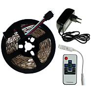 billige -SENCART 5 m Lyssæt 300/150 lysdioder SMD5050 1 x 2A strømadapter / 1 10Køler fjernbetjening RGB Chippable / Dekorativ / Koblingsbar 100-240 V 1set