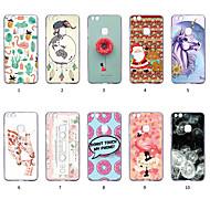 preiswerte Handyhüllen-Hülle Für Huawei P10 Lite Staubdicht / Ultra dünn / Muster Rückseite Tier / 3D Zeichentrick / Farbverläufe Weich TPU für P10 Lite
