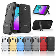 cheap Galaxy J Series Cases / Covers-Case For Samsung Galaxy J3 (2017) Shockproof / with Stand Back Cover Solid Colored Hard PC for J3 (2018)