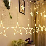 cheap -2.5m String Lights 12 LEDs Warm White Decorative 220-240 V 1 set