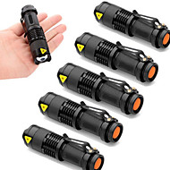 cheap Flashlights, Lanterns & Lights-SK68 LED Flashlights / Torch LED Cree® XR-E Q5 1 Emitters 2000 lm 3 Mode Zoomable, Waterproof, Adjustable Focus Camping / Hiking / Caving, Everyday Use, Police / Military 6pcs Black