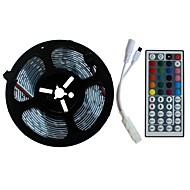 abordables -SENCART 5m Ensemble de Luminaires 300/150 LED SMD5050 1 44Keys Télécommande RVB Découpable / Décorative / Connectible 12 V 1 set