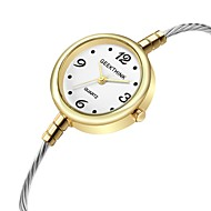 billige -Dame Armbåndsur Quartz Afslappet Ur Sej Legering Bånd Analog Mode Grøn / Guld - Sølv Gyldent Guld / Hvid