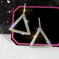 זול -בגדי ריקוד נשים קלאסי עגילי טיפה אבן נוצצת מצופה כסף עגילים אבק נשים קוראני תכשיטים כסף עבור יומי זוג 1