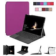 preiswerte Tablet Zubehör-Hülle Für Microsoft Surface Go Surface go mit Halterung / Flipbare Hülle / Origami Ganzkörper-Gehäuse Solide Hart PC für Surface go