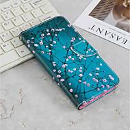 preiswerte Handyhüllen-Hülle Für Sony Xperia XA2 / Xperia XA3 Geldbeutel / Kreditkartenfächer / mit Halterung Ganzkörper-Gehäuse Blume Hart PU-Leder für Xperia XZ2 / Xperia XA2 Ultra / Xperia XA2