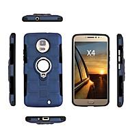 お買い得  携帯電話ケース-ケース 用途 Motorola E4 Plus / E4 耐衝撃 / 耐埃 / 耐水 バックカバー ソリッド ソフト TPU のために Moto X4 / Moto E4 Plus / Moto E4
