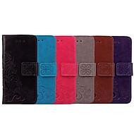 お買い得  携帯電話ケース-ケース 用途 Huawei Enjoy 5S カードホルダー / フリップ フルボディーケース ソリッド / フラワー ソフト PUレザー のために Huawei Enjoy 5S