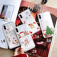 Недорогие Кейсы для iPhone 8 Plus-Кейс для Назначение Apple iPhone XS / iPhone XS Max Движущаяся жидкость / С узором Кейс на заднюю панель Рождество Твердый ПК для iPhone XS / iPhone XR / iPhone XS Max