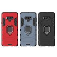 Недорогие Чехлы и кейсы для Galaxy Note-Кейс для Назначение SSamsung Galaxy Note 9 Защита от удара / Кольца-держатели Кейс на заднюю панель Однотонный / броня Твердый ПК для Note 9