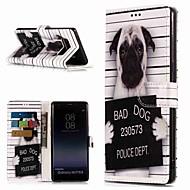 Недорогие Чехлы и кейсы для Galaxy Note-Кейс для Назначение SSamsung Galaxy Note 9 / Note 8 Кошелек / Бумажник для карт / со стендом Чехол С собакой Твердый Кожа PU для Note 9 / Note 8