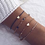 levne Šperky&Hodinky-4ks Dámské Klasika Řetězové & Ploché Náramky Náramek - dámy, umělecké, Jedinečný design, Módní Náramky Šperky Růžové zlato Pro Denní Street