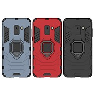 Недорогие Чехлы и кейсы для Galaxy А-Кейс для Назначение SSamsung Galaxy A8 2018 Защита от удара / Кольца-держатели Кейс на заднюю панель Однотонный / броня Твердый ПК для A8 2018