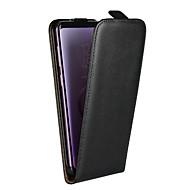 Недорогие Чехлы и кейсы для Galaxy S8 Plus-Кейс для Назначение SSamsung Galaxy S9 Plus / S8 Plus со стендом / Флип Чехол Однотонный Твердый Настоящая кожа для S9 / S9 Plus / S8 Plus