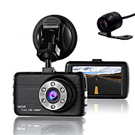 abordables DVR de Coche-coche del dvr de la cámara de la leva de la lente doble para los conductores cámara completa del registrador de la hd 1080p con el g-sensor de la visión nocturna