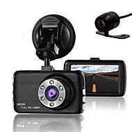 billige Daglige tilbud-dobbelt linse dash kamera kamera dvr bil for drivere full HD 1080 p opptaker kamera med nattesyn g-sensor