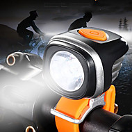 preiswerte Taschenlampen, Laternen & Lichter-Fahrradlicht LED Radlichter LED Radsport Wasserfest, Tragbar, Verstellbar Wiederaufladbarer Akku 500-1200 lm Batterien angetrieben Weiß Camping / Wandern / Erkundungen / Radsport