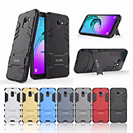 Case For Samsung Galaxy J6 Shockproof / with Stand Back Cover Solid Colored Hard PC for J6 (2018)