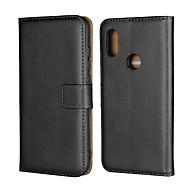 preiswerte Handyhüllen-Hülle Für Xiaomi Xiaomi Pocophone F1 / Xiaomi Redmi 6 Pro Geldbeutel / Kreditkartenfächer / mit Halterung Ganzkörper-Gehäuse Solide Hart Echtleder für Redmi Note 5A / Xiaomi Redmi Note 5 Pro / Xiaomi