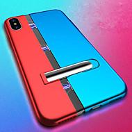 Недорогие Кейсы для iPhone 8 Plus-Кейс для Назначение Apple iPhone XS / iPhone XS Max Защита от удара / со стендом / Магнитный Кейс на заднюю панель Однотонный Твердый ПК для iPhone XS / iPhone XS Max / iPhone X
