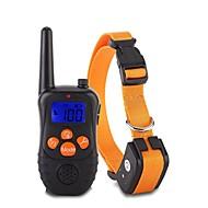 お買い得  ペット用品-犬用 カラー / 訓練 アンチ犬叫 / エレクトリック / LCD クラシック メタリック / プラスチック ブラック / オレンジ