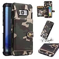 Недорогие Чехлы и кейсы для Galaxy S8-Кейс для Назначение SSamsung Galaxy S8 Plus / S8 Кошелек / Бумажник для карт / Защита от удара Кейс на заднюю панель Камуфляж Мягкий Кожа PU для S8 Plus / S8