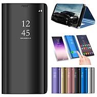 abordables Galaxy A7(2017) Carcasas / Fundas-Funda Para Samsung Galaxy A6+ (2018) / A6 (2018) con Soporte / Cromado / Espejo Funda de Cuerpo Entero Un Color Dura Cuero de PU para A5(2018) / A6 (2018) / A6+ (2018)