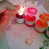 billige -2pcs LED Night Light Naturlig hvid Knap Batteridrevne Sødt / Kreativ Batteri
