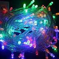 cheap -10m String Lights 100 LEDs Multi Color Decorative 220-240 V 1 set