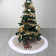 abordables Artículos para el Hogar-Árboles de Navidad / Navidad / ornamentos de Navidad Vacaciones / Árbol de Navidad Textil Redondo / Circular Fiesta Decoración navideña