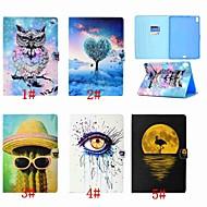 halpa iPad tarvikkeet-Etui Käyttötarkoitus Apple iPad (2018) / iPad Pro 11'' Korttikotelo / Flip / Kuvio Suojakuori Eläin / Pöllö / Puu Kova PU-nahka varten iPad Air / iPad 4/3/2 / iPad Mini 3/2/1