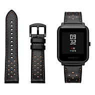 cheap -Watch Band for Huami Amazfit Bip Younth Watch Xiaomi Sport Band / Classic Buckle Genuine Leather Wrist Strap