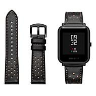 Недорогие Ремешки для часов Xiaomi-Ремешок для часов для Huami Amazfit Bip Younth Watch Xiaomi Спортивный ремешок / Классическая застежка Натуральная кожа Повязка на запястье