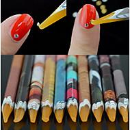 billige -1pc Nail Art Tool Nail DIY Tools Multifunktionel / Bedste kvalitet White Series Negle kunst Manicure Pedicure Miljøvenligt materiale Trendy / Mode Daglig