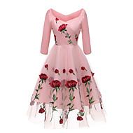 cheap -Women's Party Slim Swing Dress Off Shoulder White Black Pink L XL XXL