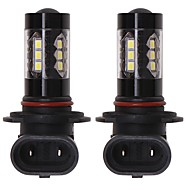 cheap -OTOLAMPARA 2pcs H10 / H9 / H11 Car Light Bulbs 80 W SMD 2835 1660 lm 16 LED Fog Light For Pontiac Terrain / Talon / Stealth 2018