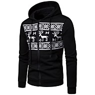 cheap -Men's Basic / Street chic Hoodie - Geometric Black XL