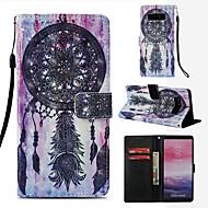 Недорогие Чехлы и кейсы для Galaxy Note 8-Кейс для Назначение SSamsung Galaxy Note 8 Кошелек / Бумажник для карт / Флип Чехол Ловец снов Твердый Кожа PU для Note 8