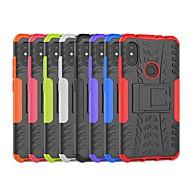 preiswerte Handyhüllen-Hülle Für Xiaomi Xiaomi Pocophone F1 / Xiaomi Redmi Note 6 Stoßresistent / mit Halterung Rückseite Anwendung / Rüstung Hart PC für Redmi Note 5A / Xiaomi Redmi Note 6 / Xiaomi Pocophone F1