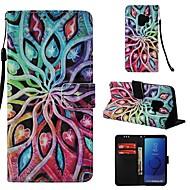 Недорогие Чехлы и кейсы для Galaxy S-Кейс для Назначение SSamsung Galaxy S9 Кошелек / Бумажник для карт / Флип Чехол Мандала Твердый Кожа PU для S9