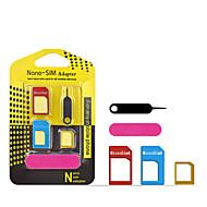 tanie -adapter karty sim 5 w 1 adapter nano micro sim Standardowe adaptery kart sim wysuń pin do telefonu iPhone samsung