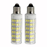 お買い得  LED コーン型電球-2pcs 4.5 W 450 lm E11 LEDコーン型電球 T 76 LEDビーズ SMD 2835 調光可能 温白色 / クールホワイト 110 V