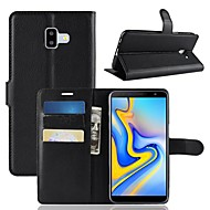cheap Samsung Accessories-Case For Samsung Galaxy J6 / J4 Wallet / Card Holder / Flip Full Body Cases Solid Colored Hard PU Leather for J8 (2018) / J7 (2018) / J6 (2018)