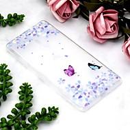 preiswerte Handyhüllen-Hülle Für Sony Xperia XZ2 Compact / Xperia XZ2 Transparent / Muster Rückseite Schmetterling / Blume Weich TPU für Xperia XZ2 / Sony Xperia XZ3 / Xperia XZ2 Compact
