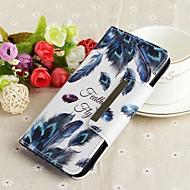מגן עבור Huawei P20 lite / P smart ארנק / מחזיק כרטיסים / עם מעמד כיסוי מלא נוצות קשיח עור PU ל Huawei P20 / Huawei P20 Pro / Huawei P20 lite