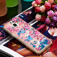 Недорогие Чехлы и кейсы для Galaxy A5(2016)-Кейс для Назначение SSamsung Galaxy A5(2016) Защита от удара / Сияние и блеск Кейс на заднюю панель Сияние и блеск / Цветы Мягкий ТПУ для A5(2016)