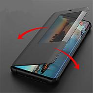 お買い得  携帯電話ケース-ケース 用途 Huawei Huawei Mate 20 Lite / Huawei Mate 20 Pro ウィンドウ付き / フリップ / オートスリープ / ウェイクアップ フルボディーケース ソリッド ハード PUレザー のために Huawei Mate 20 lite / Huawei Mate 20 pro / Huawei Mate 20