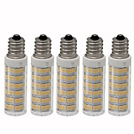abordables Bombillas LED de Mazorca-5pcs 4.5 W 450 lm E12 Bombillas LED de Mazorca T 76 Cuentas LED SMD 2835 Regulable Blanco Cálido / Blanco Fresco 220 V