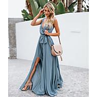 cheap -Women's Party Basic Asymmetrical Swing Dress Strap Green M L XL